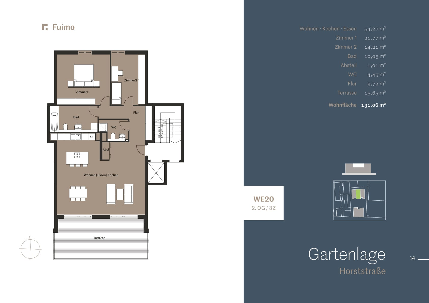 Screenshot of a floor plan, embedded into a brochure layout